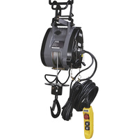 Bannon Compact Electric Cable Hoist — 1100-Lb. Capacity, 95ft. Lift, 110 Volts, 1 Phase