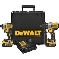 FREE SHIPPING — DEWALT Cordless MAX XR Lithium-Ion Brushless Premium Hammer Drill and Impact Driver Combo Kit — 20 Volt, Model# DCK299P2