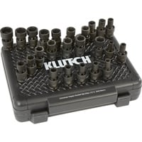 Klutch Universal Joint Impact Socket Set — 24-Pc., 1/2in. Drive, SAE/Metric