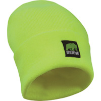 Berne High Visibility Non-Rated Safety Beanie — Lime, One Size Fits Most, Model# HVA152YW