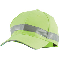 Berne High Visibility Non-Rated Baseball Cap — Lime, One Size Fits Most, Model# HVA154YW