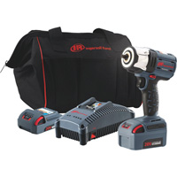Ingersoll Rand IQV20 Series Lightweight Cordless Impact Wrench Kit — Two Batteries, 20 Volt, 3/8in. Drive, Model# W5132-K22