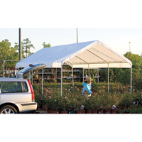 ShelterLogic Super Max 10Ft.W Deluxe Canopy — 20ft.L x 10ft.W x 9ft 6in.H, 2in. Frame, 8-Leg, Model# 23571