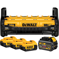FREE SHIPPING — DEWALT 1800 Watt Portable Power Station and Parallel Battery Charger Kit — Includes 4 Batteries: (3) 20 Volt MAX, (1) 20/60 Volt FLEXVOLT, Model# DCB1800M3T1