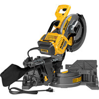 FREE SHIPPING — DEWALT FLEXVOLT 120 VOLT MAX 12in. Double Bevel Sliding Compound Miter Saw — With 120 Volt AC Adapter, Model# DHS790AB