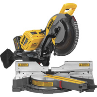 FREE SHIPPING — DEWALT FLEXVOLT 120 VOLT MAX 12in. Double Bevel Sliding Compound Miter Saw Kit — With (2) 20V/60V FLEXVOLT MAX Batteries, Charger and 120 Volt AC Adapter, Model# DHS790AT2