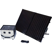 Humless Complete Solar Power System with Solar Generator — 3000 Surge Watts, 1500 Rated Watts, Model# 1500 Series 0.64kWh
