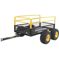 Polar Mesh Trailer  — Tandem Axle, 1,400-Lb. Capacity, Model# HDM1400TA