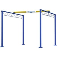 FREE SHIPPING — Gorbel 1000-Lb. Shop Crane — 8ft.L x 15ft.W x 12ft.H, Model# SC1000-FS-8-15-12