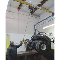 FREE SHIPPING — Gorbel 2000-Lb. Shop Crane — 12ft.L x 15ft.W x 12ft.H, Model# SC2000-FS-12-15-12