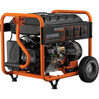 FREE SHIPPING — Generac GP8000E Portable Generator — 10,000 Surge Watts 8000 Rated Watts, Electric Start, Model# 6954