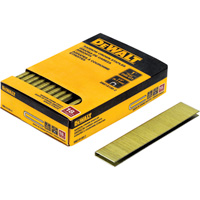 DEWALT 18-Gauge 1/4in. Narrow Crown 1in. Staples —  2500 Nails, Model# DNS18100-2