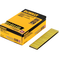 DEWALT 18-Gauge 1/4in. Narrow Crown 1 1/4in. Staples —  2500 Nails, Model# DNS18125-2