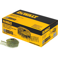DEWALT 1 1/4in. x 0.120in. Galvanized Coil Roofing Nails —  7200 Nails, Model# DWCR3DGAL