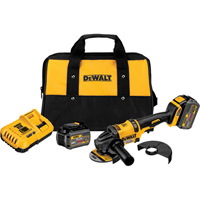FREE SHIPPING — DEWALT FLEXVOLT 60 Volt MAX Brushless 4 1/2in.–6in. Grinder Kit — 2 FLEXVOLT Batteries, Model# DCG414T2