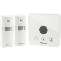 Swann Communications Wireless Home Doorway Alert Kit — Receiver/Alarm, 2 Motion Sensors, Model# SWADS-ALARMS-GL