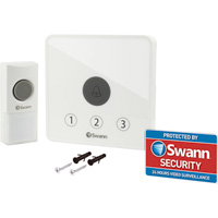 Swann Communications Home Doorbell Kit — Includes Receiver/Alarm, Doorbell Unit, Model# SWADS-DOORBK-GL