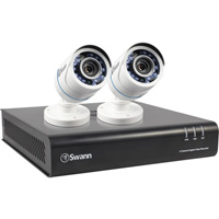 Swann Communications 1080p DVR Security System with 500GB Hard Drive — 4 Channels/2 Cameras, Model# SWDVK-445002-US
