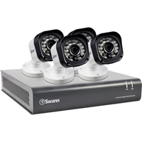 Swann Communications High-Definition DVR Security System — 8 Channels, 4 Cameras, 500GB Hard Drive, Model# SWDVK-8720P4-US