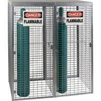 AK Saf-T-Store Cylinder Cabinet — 58in.W x 29in.D x 66in.H, Holds 18 Vertical Cylinder Tanks, Model# SAF-T-20