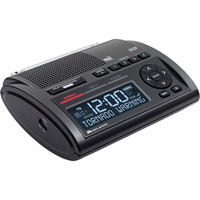 Midland AM/FM Clock Weather Radio — 25 Programmable Countries, Model# WR400