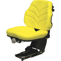 K&M JD 5000 Series Suspension Utility Seat — 275-Lb. Capacity, Yellow, Model# 6774