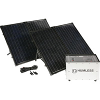 Humless Complete Solar Power System with Solar Generator — 3000 Surge Watts, 1500 Rated Watts, Model# 1500 Series 1.3kWh