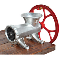 Guide Gear No. 32 Cast Iron Meat Grinder with Flywheel