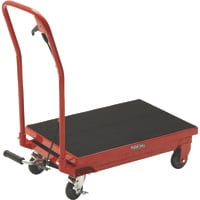 Ironton Hydraulic Table Cart — 500-Lb. Capacity