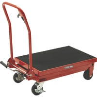 Ironton Hydraulic Table Cart — 1000-Lb. Capacity