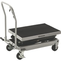 Strongway 2-Speed Hydraulic Rapid Lift XT Table Cart — 1000-Lb. Capacity