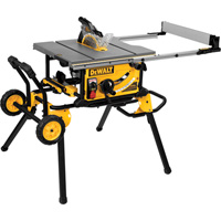 FREE SHIPPING — DEWALT 10in. Jobsite Table Saw with Guard Detect — 32 1/2in. Rip Capacity, Rolling Stand, Model# DWE7499GD