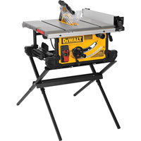 FREE SHIPPING — DEWALT 10in. Jobsite Table Saw with Scissor Stand — 28 1/2in. Rip Capacity, Model# DWE7490X