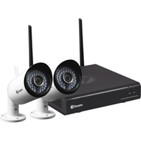 Swann Communications 4-Channel Wi-Fi NVR Security System — 2 Cameras, 1 TB Hard Drive, Model# SWNVW-485KH2-US
