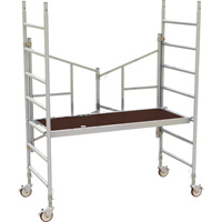 Metaltech 6ft. Easy-Set Aluminum Scaffold Tower — 800-Lb. Capacity, Model# AL-Q0100