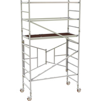 Metaltech 6ft. Easy-Set Aluminum Scaffold Tower with Guardrail — 800-Lb. Capacity, Model# AL-Q0105