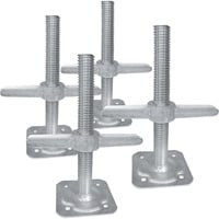 Metaltech Adjustable Leveling Jacks — 4-Pk., For Baker-Style Scaffolding, Model# I-IBSJP12H4