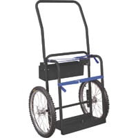 Klutch Hi-Axle Welding Cylinder Cart — 220-Lb. Capacity, Pneumatic Wheels, Powder-Coat Finish