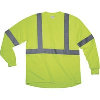 Forester Men's Class 2 High Visibility Long Sleeve T-Shirt — Lime