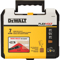 FREE SHIPPING — DEWALT 7-Pc. Carbide Wood Hole Saw Kit, Model# DWAFV07SET