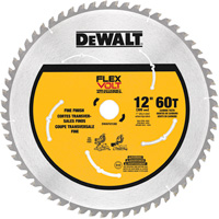 FREE SHIPPING — DEWALT FlexVolt 12in. 60T Circular Saw Blade, Model# DWAFV31260