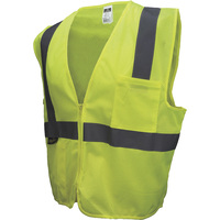 Radians Men's Class 2 High Visibility Mesh Zip-Front Safety Vest — Lime, Model# SV2ZGM