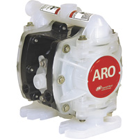 FREE SHIPPING — ARO Air-Operated Double Diaphragm DEF Pump — 1/4in. Ports, 5.3 GPM, Polypropylene/PTFE, Model# PD01P-HPS-PTT-A