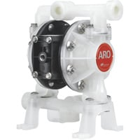 FREE SHIPPING — ARO Air-Operated Double Diaphragm DEF Pump — 1/2in. Ports, 14.4 GPM, Polypropylene/Santoprene, Model# PD05P-ARS-PAA-B