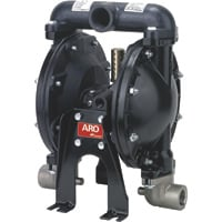 FREE SHIPPING — ARO Air-Operated Double Diaphragm Antifreeze Pump — 1in. Ports, 35 GPM, Aluminum/Nitrile, Model# 650715-C