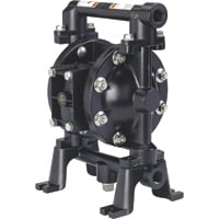FREE SHIPPING — ARO Air-Operated Double Diaphragm Fuel Transfer Pump — 1/2in. Ports, 12 GPM, Aluminum/Viton, Model# 670042