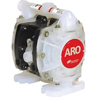 FREE SHIPPING — ARO Air-Operated Double Diaphragm Oil Pump — 1/4in. Ports, 5.3 GPM, Groundable Acetal/PTFE, Model# PD01E-HDS-DTT-A