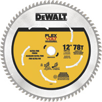FREE SHIPPING — DEWALT FLEXVOLT Circular Saw Blade — 12in. Dia., 78 Tooth, Ultra Fine Finish, For Wood, Model# DWAFV31278