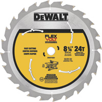 FREE SHIPPING — DEWALT FLEXVOLT Table Saw Blade — 8 1/4in. Dia., 24 Tooth, Fast Cutting, For Wood, Model# DWAFV3824