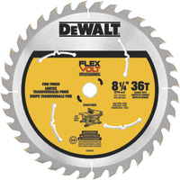 FREE SHIPPING — DEWALT FLEXVOLT Table Saw Blade — 8 1/4in. Dia., 36 Tooth, Fine Finish, For Wood, Model# DWAFV3836
